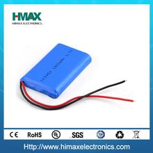 factory supply 3.7v 2000mah 103450 mp4 li-polymer battery