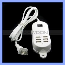 5V 6A 30W 1.5M Line Desktop 6 Port USB Charger Hub Power Adapter EU/US/UK Plug