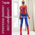 Estímulo 2014 araña- chica mujeres bustier catsuit superhéroe spiderman disfraces de látex