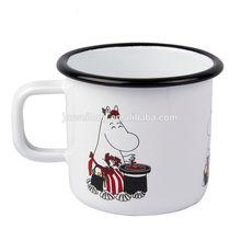 Roll Rim Customized Printed Enamel Mug