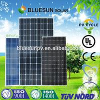 Bluesun poly 290w photovoltaic solar panels production