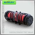 Smokjoy patente original , mod TNT 26650 y 18650 mod mecánica de tipo de tubo de cigarrillo electrónico