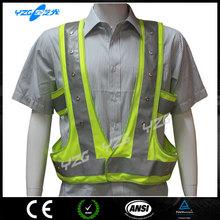 green reflective motorcycle safety vest led