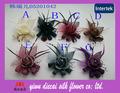 cheveux sinamay tissu fleurs floral