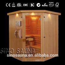 Traditional Finland Pine Luxury Indoor Mini Portable Dry Sauna Room