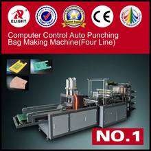 Computer control Four Line T shirt Bag making Machine