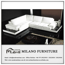 2014 hot selling leather sofa design with wood F2028