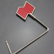 Small metal foldable red bag hanger hook