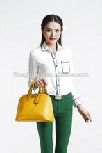 Fashion korean hobo dark blue stripe canvas woman designer handbag Designer 2014 Hot Selling Genuine Leather Shoulder Bag
