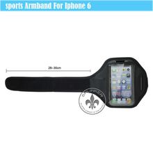 For iPhone 6 Hot Sell Popular Classical Sport Neoprene Waterproof Colorful Anti-broken Armband For Sport Fans O6009-H64