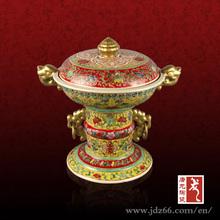 Antique Qing dynasty style ceramic porcelain candy jar