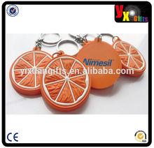 Promotional Reflective PVC Keychain/Custom shaped fashion eco-friendly high quality soft pvc keychains
