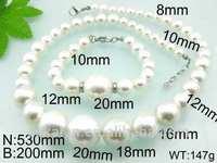 latest fashion design imitation pearl jewelry sets