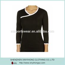 Fashion Long Sleeve Ladies Fitness Bamboo T Shirt