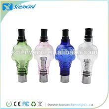 atomizer wholesale exgo w3 wax oil pen E Cig 510 thread skull glass globe atomizer yocan exgo 2