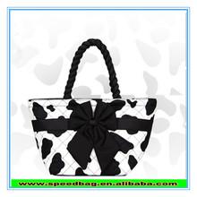 Concise fashion through big bowknot lady handbag
