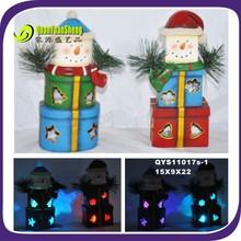 christmas led light resin gift craft