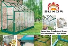 Polycarbonate Lean to Hobby Garden Greenhouse as outdoor garden houses