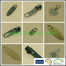 Contemporary useful injection mould zipper pulls dot paint