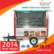 popular food/snack business electric fast food car/food selling car