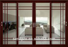 window grill patterns new design wooden door/commercial use office doors design /aluminum sliding door design