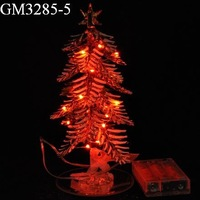 Christmas decorative LED lighted glass pine tree