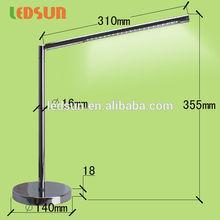 Elegant Aluminium LED desk lamp.5 strengths adjustment folding table LED Lamp.Fashion simple Design desk lamp.