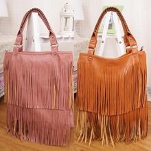 BV9081 hefei zhijing popular styles wholesale dual function tassel fringes bags for women 2015