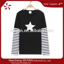 China 100% cotton long boy t-shirts/Manufacturer organic long tshirt/custom stylish boy t-shirt