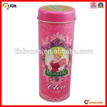 round metal chinese tea gift set packing