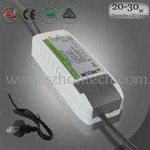 Hontech-wins SAA/C-tick qualified 180-265Vac output constant current dimmable led downlight driver 25w