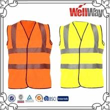 fluorescent yellow orange work safety vest for work
