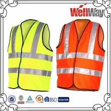 reflective fluorescent yellow orange safety vest 3M reflective