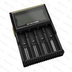Rechargeable universal Li-ion charger nitecore d4 charger IMR/Li-ion/LiFePO4/Ni-MH/Ni-Cd AA AAA AAAA battery charger