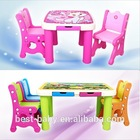 New design plastic children table and chair study set