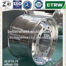 Cerchi in lega per camion 22.5*1 1. 75/forgiato in alluminio lucido ruote camion 2 2. 5 cerchi in lega per autocarro