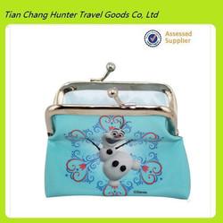 2014 China factory cheap custom Anna and Elsa Frozen coin purse