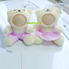 Funny Photo Couple Sitting bear 10CM 3D Face Doll