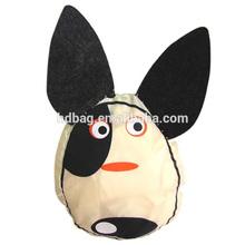 customized new design cute animal dog eco nylon recycled foldable shopping bag