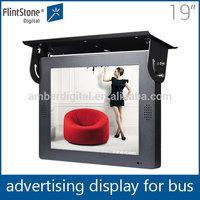 Flintston19 inch hd lcd tv bus advertising media display,truck mobile led display