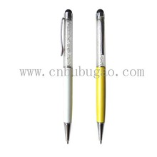 New High quality metal crystal touch pen/stylus touch pen for iphone/ Digital touch pen