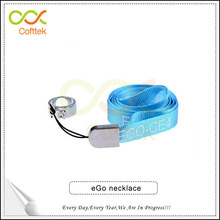 Easy carry eGo necklaces for e cigarette eGo necklace with ring clips