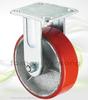 150mm Heavy Duty Red PU Iron Core Industrial Wheel Caster