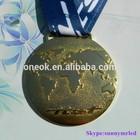 Custom 3d design commemorative zinc alloy gold medal athletics