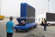 Digital outdoor mobile LED display trailer