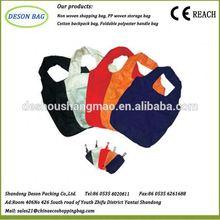 eco high quality foldable fashion lady canvas stripe handbag shoulder bag purse shopping tote