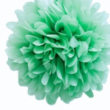 Yiwu Factory Wholesale Mint Green Mini Tissue Paper Pom Poms Flowers Balls - Pack of 8 Party Kit BIRTHDAY PARTY WEDDING DECO