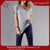 2014 high quality lady t-shirts soft 95% cotton 5% spandex t-shirts