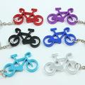 venda quente forma especial muitas cores para escolher personalizado o logotipo do laser do metal de alumínio de bicicleta chaveiro