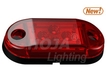2.6 inch x1 inch LED Marker & Clearance Light, Vertical or Horizontal Mount led marker light with dot sae